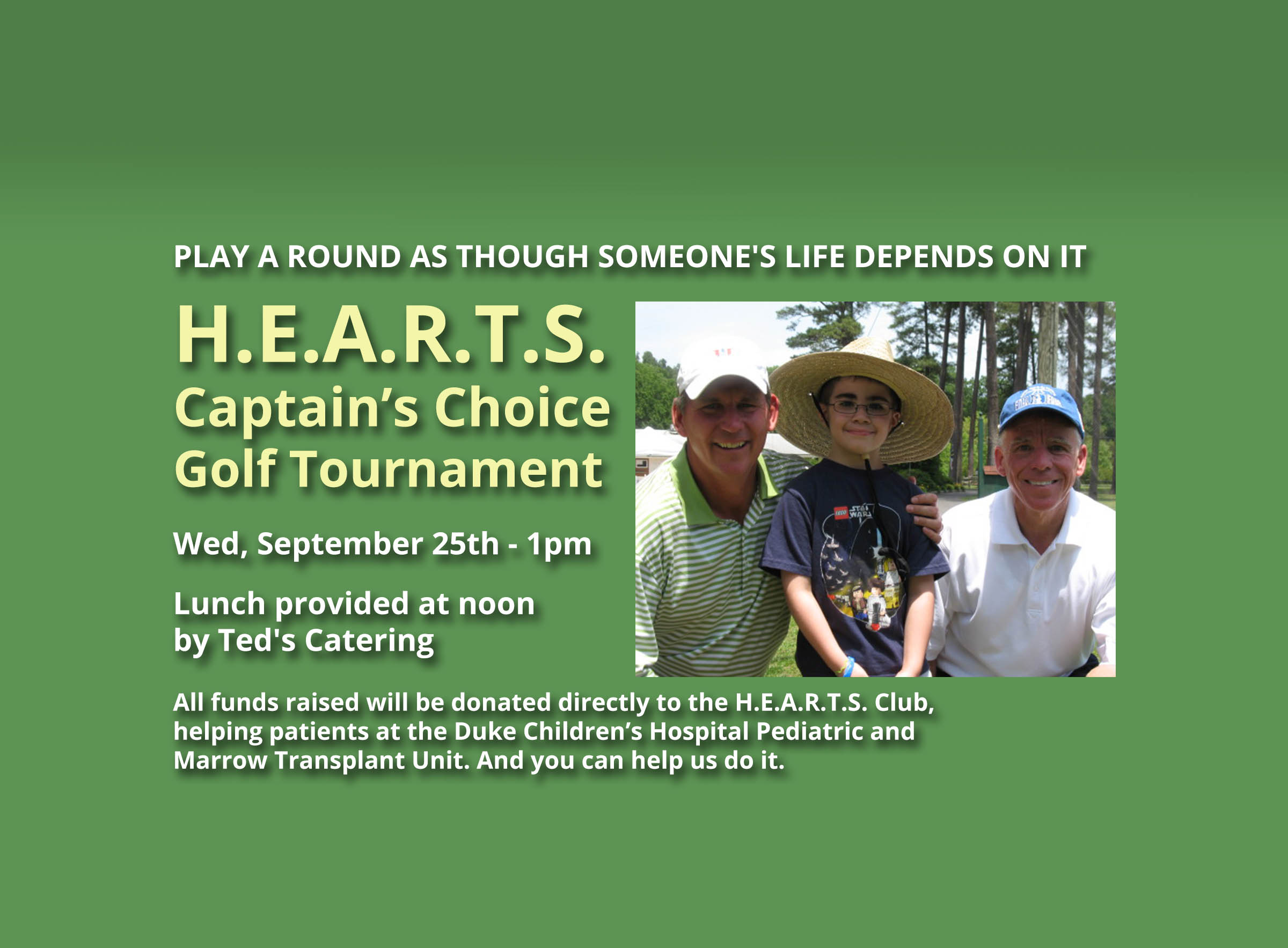 HEARTS Golf Tournament Wed, Sept 25th